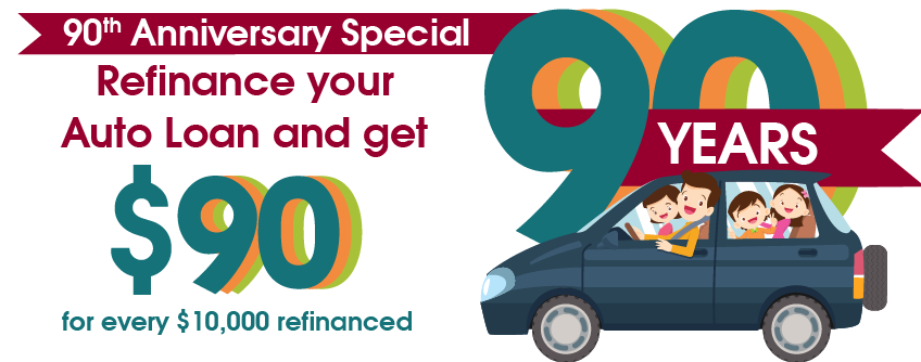 Refinance your auto loan and get $90 per $10,000
