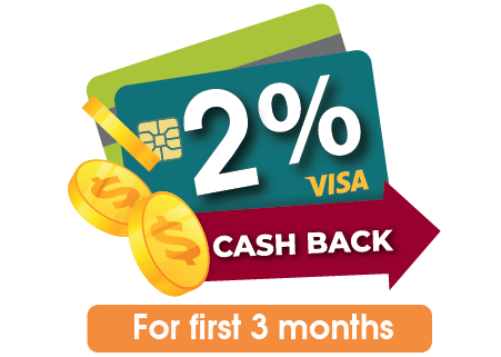 2% Cash Back
